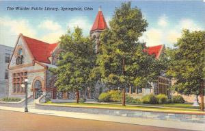 Ohio Springfield    The Warder Public Library