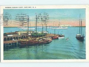 Linen HARBOR SCENE Cape May New Jersey NJ hp7746