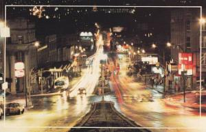 Night View, Double Sided Street View, Dancing Lights on King Street, Sherbroo...