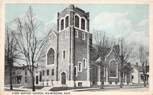 Ohio Postcard c1910 WILMINGTON First Baptist Church 2