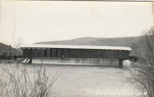 RP: DOWNSVILLE ,  New York , 1930s ; Covered Bridge
