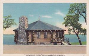 Minnesota Bemidji Fireplace Of States Building Curteich