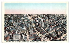 View of Atlanta GA showing Proposed Plaza, Printing Error Postcard *5F(2)6