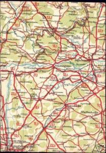 germany, NEUBURG, Bavaria, MAP Postcard (1940s)
