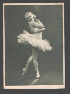 096379 Dancing ULANOVA Russian BALLET Star SWAN old Card