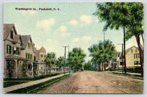 Peekskill New York~404-363 Dirt Washington St~Home w/Bay Window~Minaret~c1908