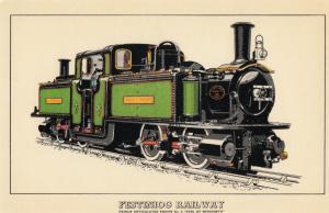 Festinog Railway Gwynedd Earl Of Merioneth Train Postcard