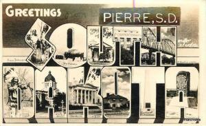 1940s Large Letters Multi View SOUTH DAKOTA Postcard 636 RPPC