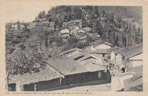 SIMLA , India , 1910s ; Kusamti Bazar , Murray Field Grange & Barnes Court