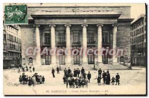Postcard Old Marseille Grand Theater Municipal