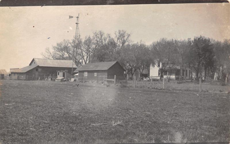 Iowa Falls~Marshall Homestead Farm~Outbldg~Home~Windmill~Chicken Coop RPPC c1910
