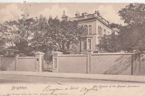 Brighton. Convent of the Blessed Sacrament 1905 postcard
