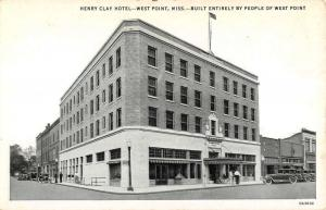 West Point Mississippi Henry Clay Hotel Exterior Antique Postcard K10883