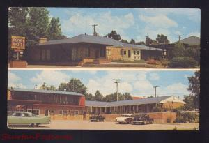 MCCOOK NEBRASKA ROYAL MOTEL 1950's CARS VINTAGE ADVERTISING POSTCARD
