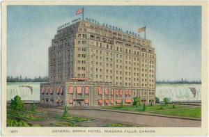 W/B General Brock Hotel Niagara Falls Ontarion Canada