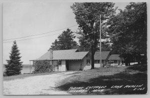 Hillman MI~Nice Evergreen~Dead End @ Tobias Cottages~Lake Avalon RPPC 1940s PC