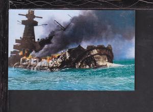 Graf Spee Scuttled Postcard