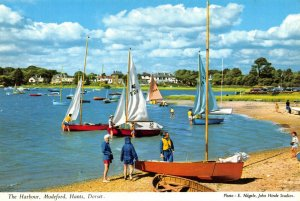 Vintage Dorset Postcard, The Harbour, Mudeford FO7