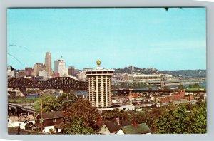 Covington KY-Kentucky, Riverview, Chrome Postcard