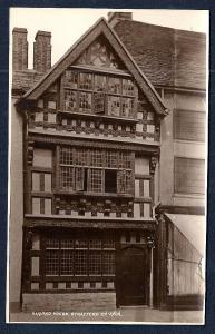 Harvard House Stratford-on-Avon Real Photo unused c1920's