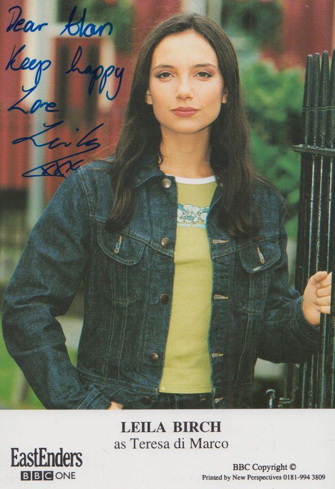 Leila Birch as Teresa Di Marco Italian BBC Eastenders Hand