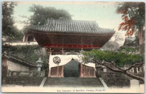 Nagasaki, JAPAN Postcard Entrance of Buddhist Temple Hand-Colored c1910s