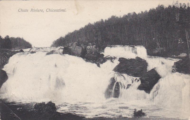 Chute Riviere, CHICOUTIMI, Quebec, Canada, 1900-1910s
