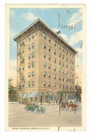 Hotel Imperial, Greenville, South Carolina, PU-10-20s