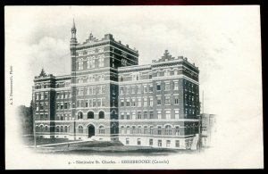 dc1474 - SHERBROOKE Quebec Postcard 1900s St. Charles Seminary by Pinsonneault