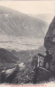 Gemmipass - Blick auf das Leukerbad , Switzerland , 00-10s