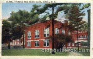 Elmira, New York USA Dining Hall Old Vintage Antique Post Card Post Card  Elm...