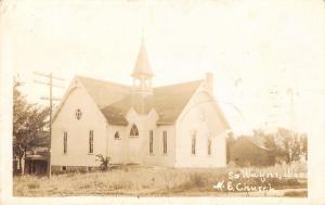 South Wayne Wisconsin~Methodist Episcopal Church~Barn~Homes~1919 RPPC