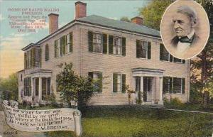 Massachustetts Concord Home Of Ralph Waldo Emerson