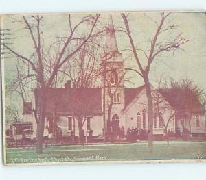 Divided Back CHURCH SCENE Fremont Nebraska NE hs7887