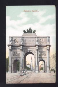 MUNCHEN SIEGESTOR ARCH GERMANY ANTIQUE VINTAGE POSTCARD