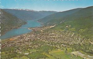 Aerial View of Queen City, NELSON, British Columbia, Canada, 40-60´s