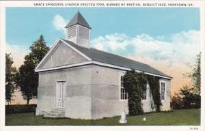 Grace Episcopal Church Erected 1700 Burned By British Rebuilt 1825 Yorktown V...