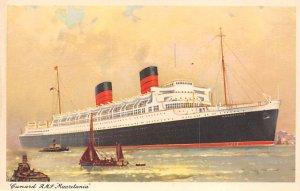 RMS Mauretania Cunard Line Ship Unused