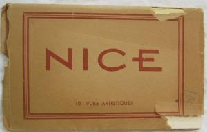Vintage Postcard Souvenir Folder Nice Italy 10 Views