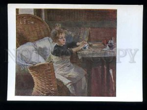 d180038 FINLAND convalescent child by Schjerfbeck postcard