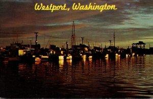 Washington Westport Fishing Fleet At Sunrise