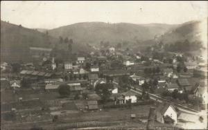 Oswayo PA General View of Homes c1910 Real Photo Postcard