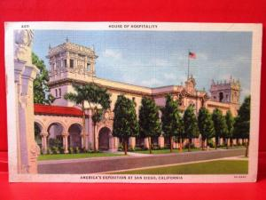 Postcard CA San Diego House of Hospitality America's Exposition