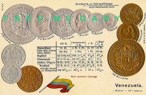 1902 Numismatic PC: 11 Venezuela Coins & Exchange Rates