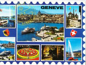 Switzerland, GENEVE, 1990, used Postcard