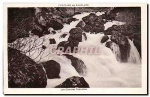 Old Postcard Fontaine de Vaucluse The large waterfalls