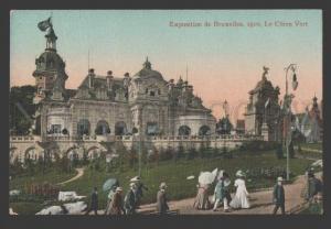 108834 Belgium BRUSSELS Exhibition 1910 Green Dog Vintage PC