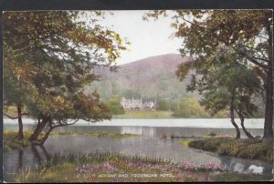 Scotland Postcard - Loch Achray and Trossachs Hotel   RS3544