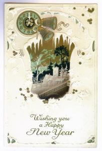 Salt Springville to Fort Plain, New York 1916 used Happy New Year Postcard