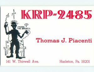 comic - QSL CB HAM RADIO CARD Hazleton Pennsylvania PA t9311@